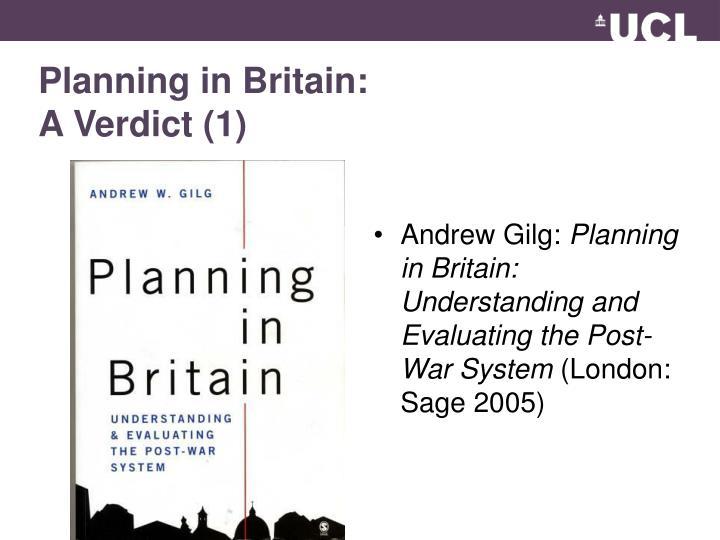 Planning in Britain: