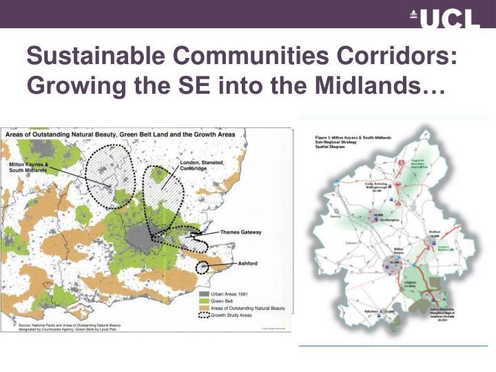 Sustainable Communities Corridors: