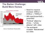 the barker challenge build more homes