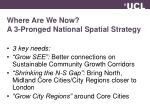 where are we now a 3 pronged national spatial strategy