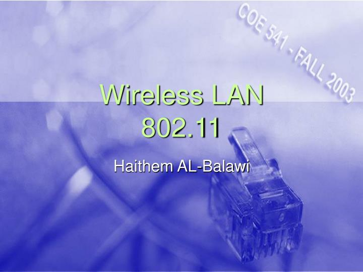 Wireless lan 802 11