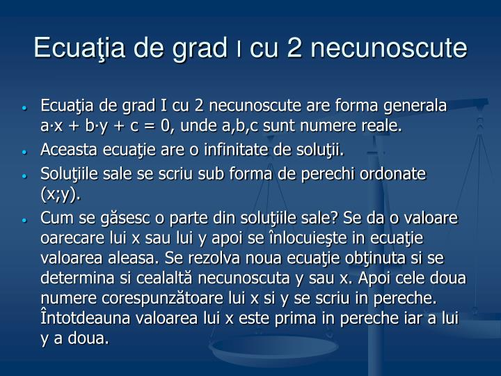 Ecuaţi