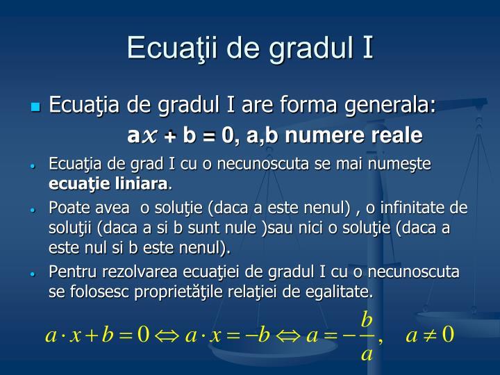 Ecuaţii de gradul