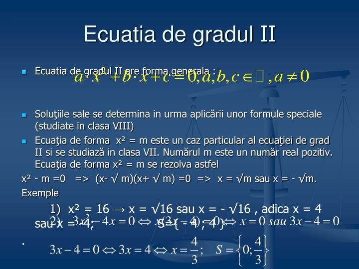 Ecuatia de gradul