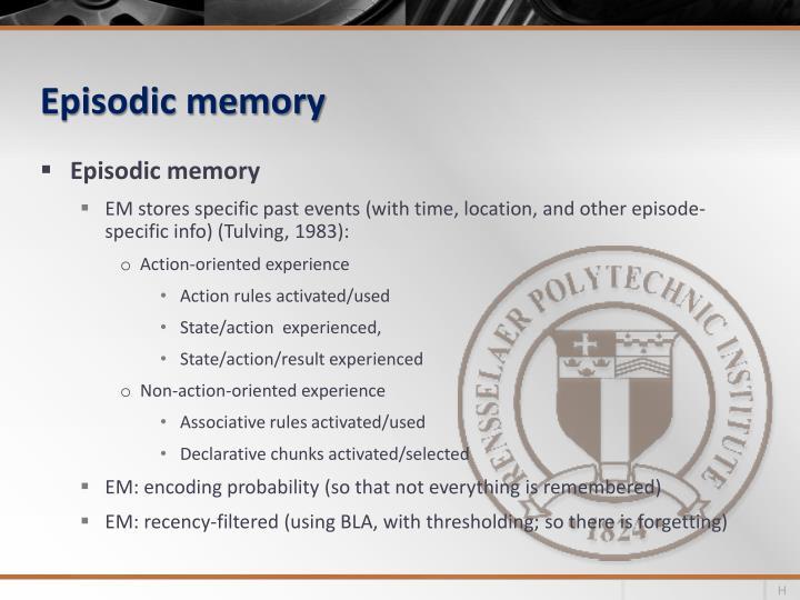 Episodic memory