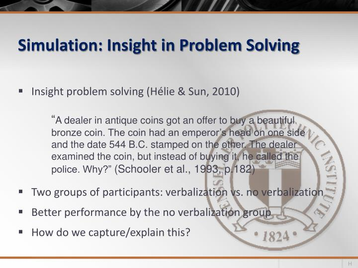 Simulation: Insight in Problem Solving