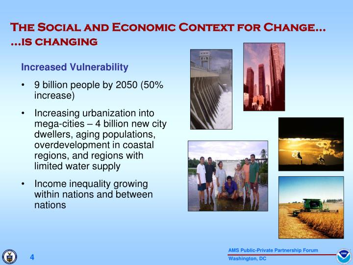 The Social and Economic Context for Change…