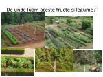 de unde luam aceste fructe si legume