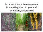 in ce anotimp putem consuma fructe si legume din gradina primavara vara toamna