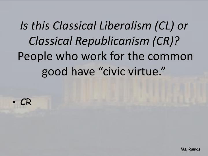 Is this Classical Liberalism (