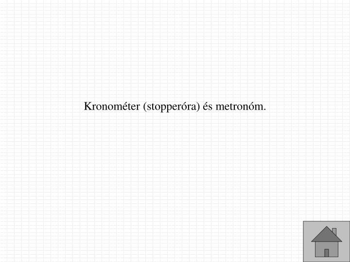 Kronométer
