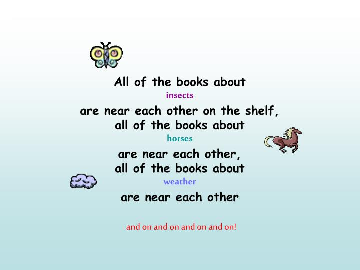 All of the books about