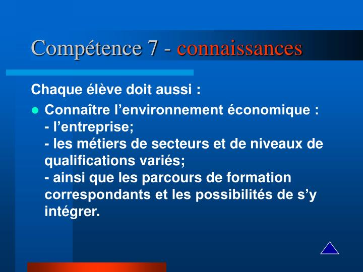 Compétence 7 -