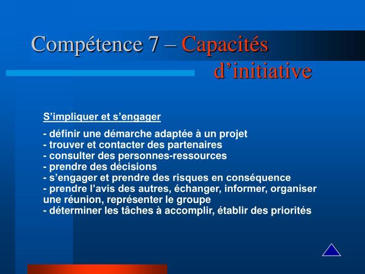 Compétence 7 –