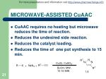 microwave assisted cuaac