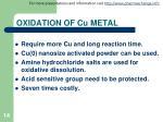 oxidation of cu metal