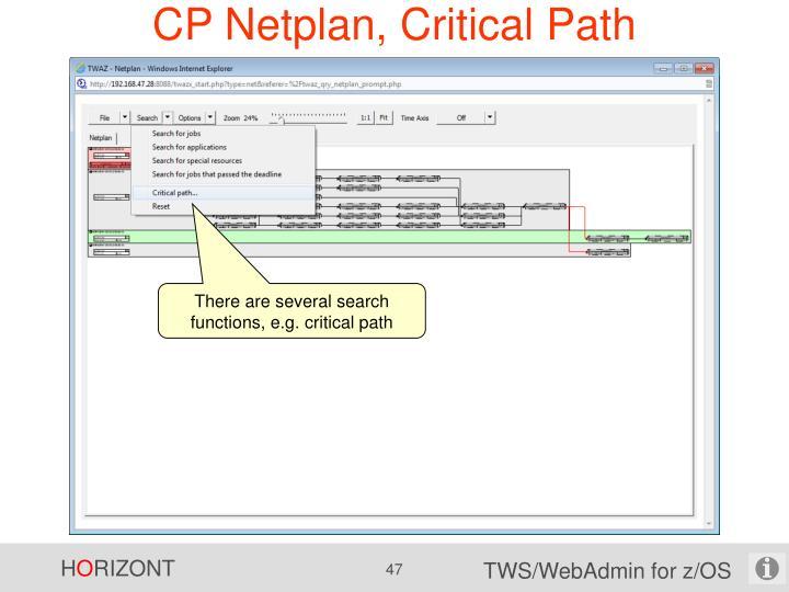 CP Netplan, Critical Path