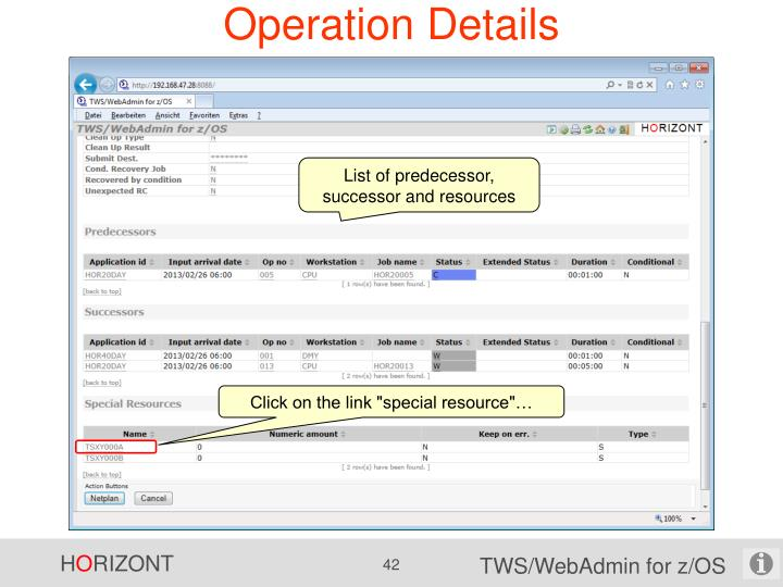 Operation Details