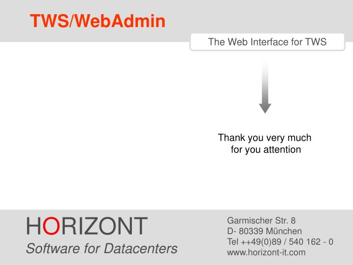 TWS/WebAdmin