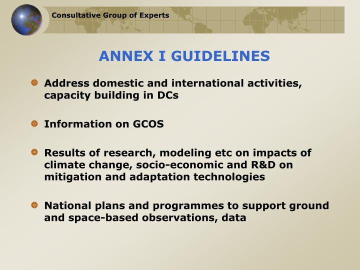 ANNEX I GUIDELINES
