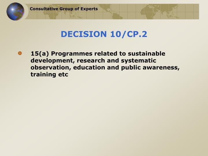 DECISION 10/CP.2