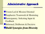 administrative approach
