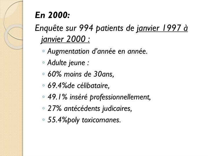 En 2000: