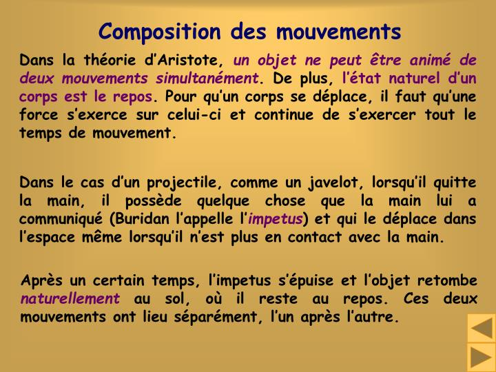 Composition des mouvements