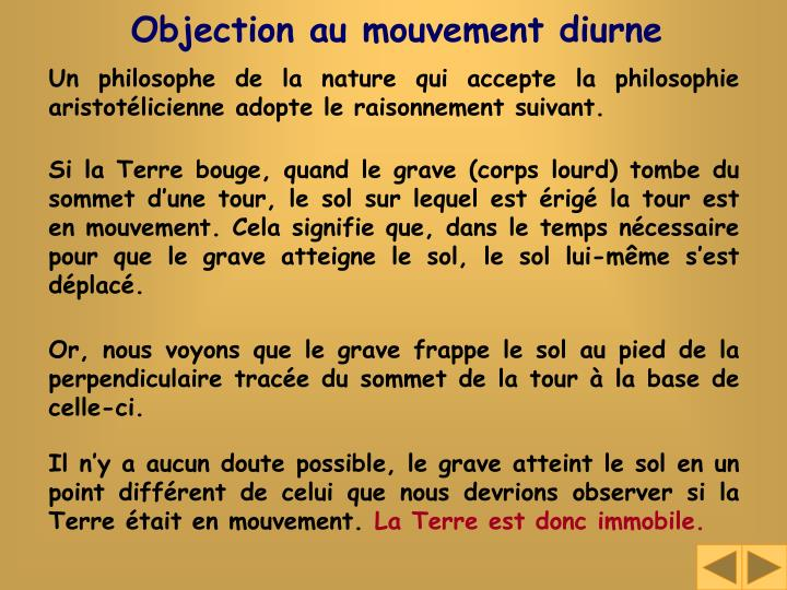 Objection au mouvement diurne