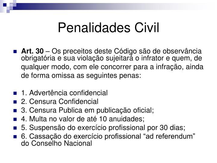 Penalidades Civil