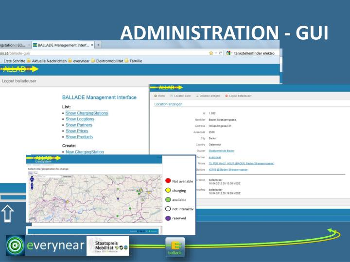 ADMINISTRATION - GUI
