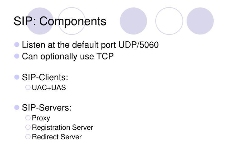 SIP: Components