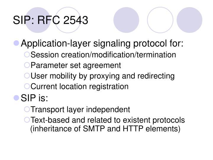 SIP: RFC 2543