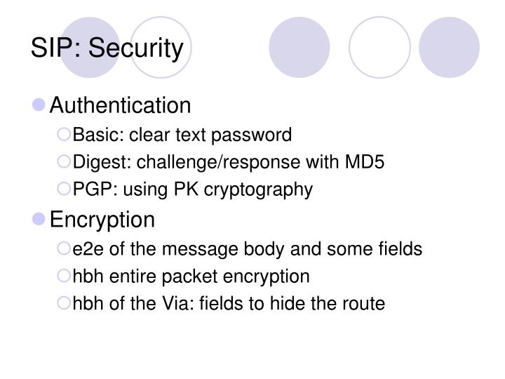 SIP: Security