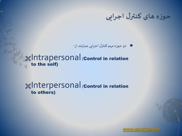 حوزه های کنترل اجرایی