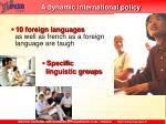 a dynamic international policy2