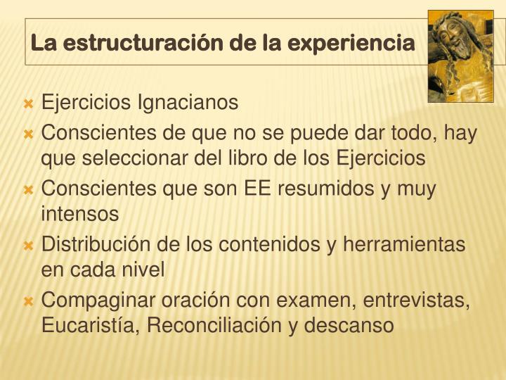 La estructuración de la experiencia