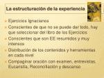 la estructuraci n de la experiencia