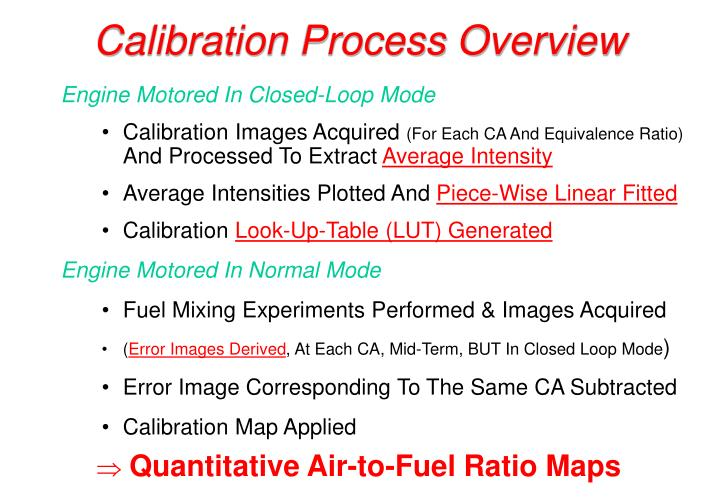 Calibration Process Overview