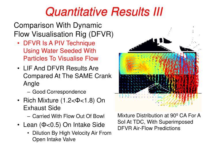 Quantitative Results III
