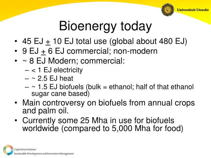 Bioenergy today
