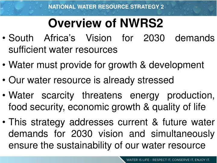 NATIONAL WATER RESOURCE STRATEGY 2