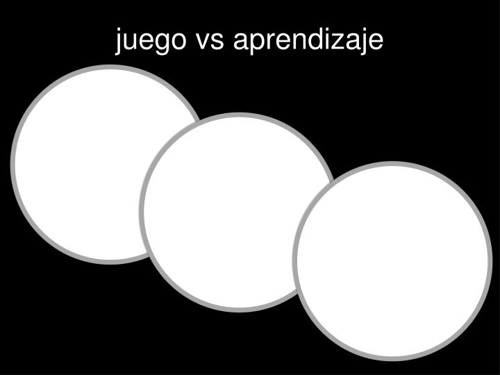 juego vs aprendizaje