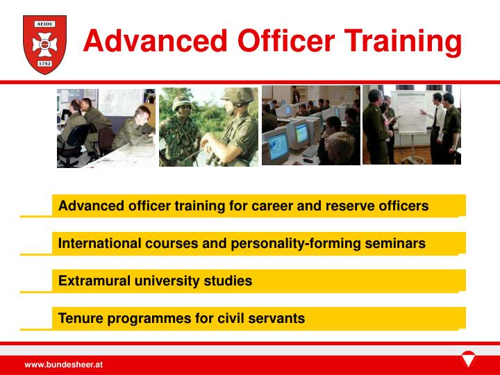 Advanced Officer Training
