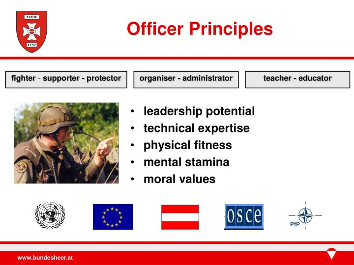 Officer Principles