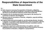 responsibilities of departments of the state government