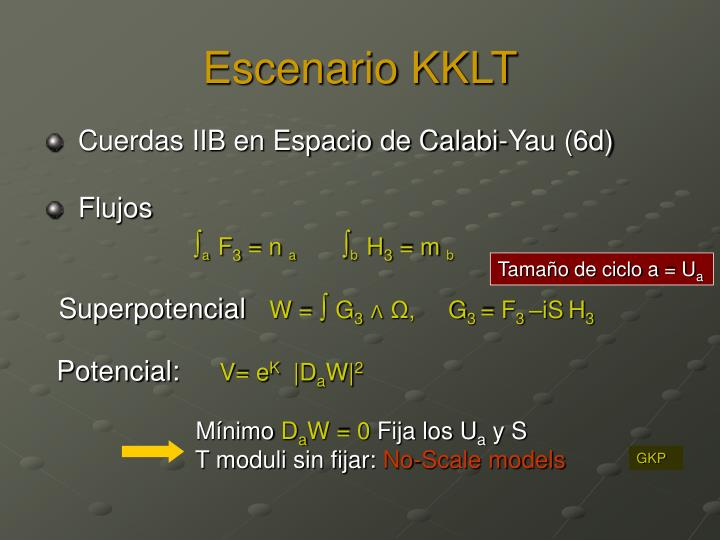 Escenario KKLT