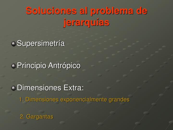 Soluciones al problema de jerarquías