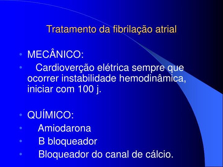 Tratamento da fibrilação atrial