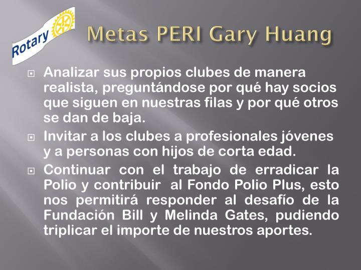 Metas PERI Gary